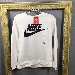 Winter Bright White Nike Crew Neck Sweater Medium